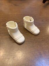 Vintage Mattel Pulsar Man of Action Original Pair White Boots Nice Outfit Part