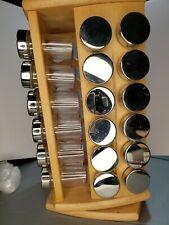 New listing vintage 2008 48-Jar Wooden Carousel Revolving Spice Rack with Jars