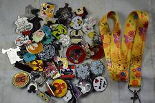 Disney pin trading Starter Set Lanyard + 50 pin lot NEW Yellow Pooh Piglet Music