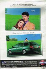 Publicité Advertising 1998 Nissan Primera Break