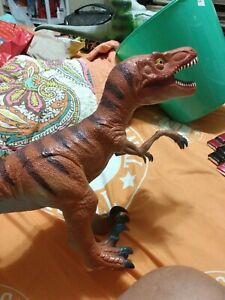 "Velociraptors 2014 Dinosaur Rubber Toy Action Figure 12"" Tall"