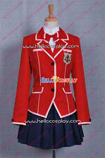 Guilty Crown Cosplay Inori Yuzuriha Costume High School Girl Uniform H008