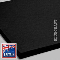 50 sheets x 12 inch Square Vanguard Black Craft Card 240gsm - 305 x 305mm