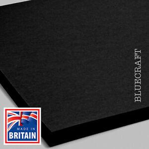 100 sheets x 12 inch Square Vanguard Black Craft Card 240gsm - 305 x 305mm