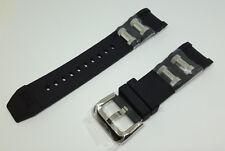 OEM Invicta Russian Diver Black Polyurethane Strap Band Silver Inserts