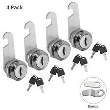 4pcs 16202530 Mm Cam Lock Drawer Cabinet Cupboard Mail Box Locker With 8 Keys