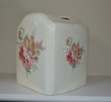 Athena Vb Usa Tissue Cover Square Box Soft Color Floral Flowers Ivory Ceramic