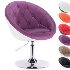 1 x Barsessel Loungesessel Sessel mit Lehne Kunstleder Violett+Weiss BH41vlw-1