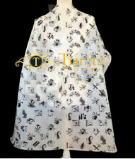 100 x Disposable Salon Barber Gown Hairdressing Cape Hair Cutting Cloak Large UK