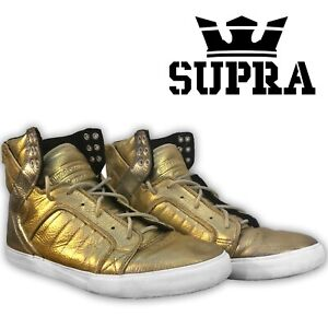 SUPRA Gold/Silver Chad Muska 001 High Top Shoes size 10 Lil Wayne