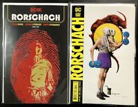 🚨🔥 RORSCHACH #1 SET OF 2 Jorge Fornes A Cover + Jae Lee B Variant Watchmen NM