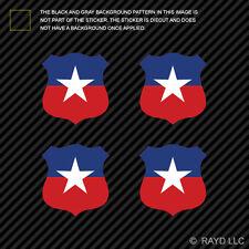 "(4x) 1.5"" Chilean Air Force Roundel Sticker Die Cut Decal FACh Chile CHL CL"