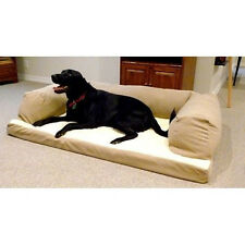 Extra large Big Dog Couch Orthopedic Foam Bed Pet Sofa Cushion Puppy Dogs Tan