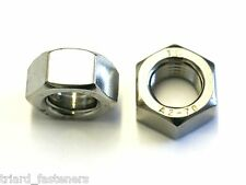 M42 (42mm) Stainless Hexagon Full Nuts - 42MM Hex - 1 PACK - DIN 934