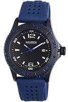 NEW Haurex Italy 3N500UBN Mens Factor Black Ion-Plated Steel Casual Watch Blue