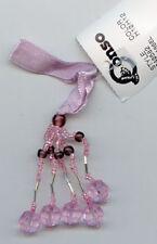 """2"""" Lilac Dusty Grape Beaded Mini Tassel Trim Lot Of 6"""