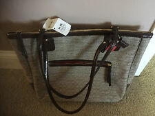 "COACH ""Signature C"" OXF Khaki Brown Tan Purse Handbag Tote 25051 BKHMA NWT"