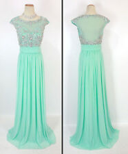 NEW $500 Jovani Prom Formal Long Size 12 Mint Cruise Gown Beads Evening Ball MOB