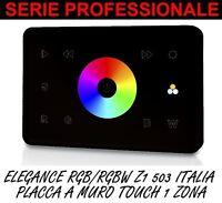 PANNELLO PARETE INCASSO 503 RGBW 1 ZONA CENTRALINA STRISCE FARETTI LED 5050 DMX