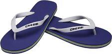 Cressi Beach Infradito per Piscina Unisex - adulto Blu/bianco 41/42