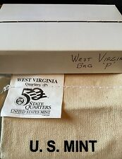 2005 WEST VIRGINIA STATE QUARTERS 100 COIN BAG 'P' MINT.   UNOPENED BAG