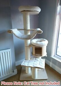 Handmade IVORY Removable Pet Cat Bed Replacement Set for Natural Paradise XL