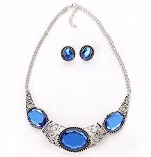 Fashion Womens Charm Collar Choker Crystal Chain Pendant Statement Bib Necklace