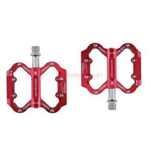 "Aluminum Alloy Mountain Bike Pedals 9/16"" 3 Sealed Bearings Pedals Flat Platform"