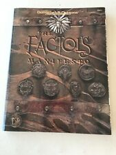 Advanced Dungeons & Dragons The Factol's Manifesto WITH MAP