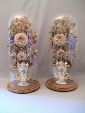 Paire de vases de mariés vieux Paris avec globes époque Napoléon III