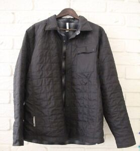 Icebreaker mens black quilted jacket with wool lining size Large