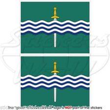 "PETERBOROUGH Flag Ontario Canada Canadian Bumper Decals Stickers, 4"" (100mm) x2"