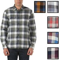 Vans Off The Wall Men's Alameda Long Sleeve Plaid Flannel Shirt