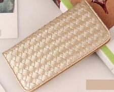 Women Purse Solid Hasp Coin Bag Long Card Holders Handbag Bifold Clutch Wallets