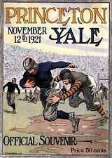 A5 Print – Vintage Rugby Program Princeton Yale 1921 (Picture Poster Sports Art)