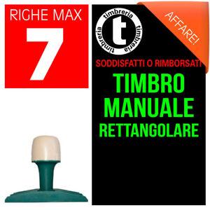 TIMBRO MANUALE TRADIZIONALE RETTANGOLARE TIMBRO PERSONALIZZATO TESTO E/O LOGO