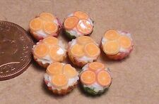 1:12 Scale 7 Loose Orange Cup Cakes Dolls House Miniature Food Accessory PL20
