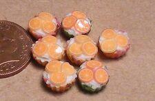 1:12 SCALA 7 Loose Arancione Cup Cakes CASA delle Bambole Miniatura Accessorio alimentare pl20