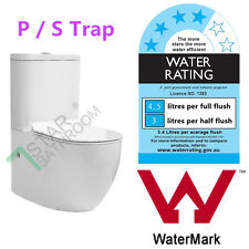 Toilet Suit Ceramic P / S TRAP Back to Wall WELS WATERMARK Slim Soft Close Seat