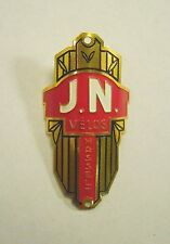 Vintage J.N Velos Hasselt Bicycle Head Badge Emblem - Located in Belgium