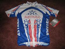 ASTANA TREK - U.S. CHAMPION : LEVI LEIPHEIMER - ITALIAN CYCLING JERSEY [M] BNWOT