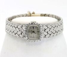 Vintage diamond Geneve ladies watch 14K white gold mesh bracelet GVS .75CT 33 GM