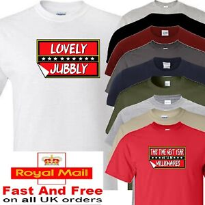 ONLY FOOLS AND HORSES T SHIRT this time next year lovely jubbly