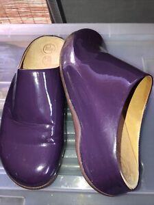 Fitflop Clog Shoes Ladies Purple Uk 7 Aus 9