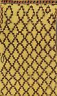 Moroccan Trellis Gold Oriental Area Rug Modern Wool Hand-knotted 4x7 ft Carpet