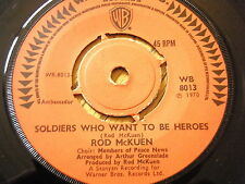 """ROD McKUEN - SOLDIERS WHO WANT TO BE HEROES  7"""" VINYL"""
