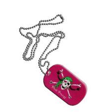 Dog Tag bandera bandera pirata Pirate Princess princesa DogTag 3x5cm cadena con anh