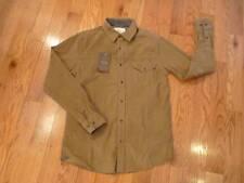 NWT Men's small WEATHERPROOF corduroy long sleeve button up shirt