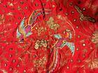 "India Indian Mirror Sequins EmbroIdered Birds 44""x44"" Rare Work Art SKU 001-047"