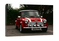 Austin Mini Cooper Classic Canvas Wall Art Picture Print Christmas Framed Gift